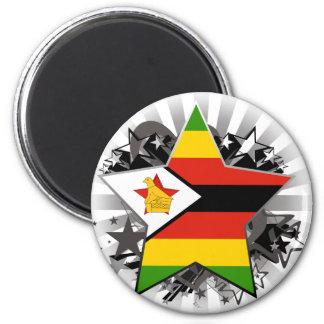 Zimbabwe Star Fridge Magnet