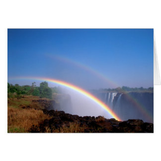 Zimbabwe, Victoria Falls National Park. Double Cards