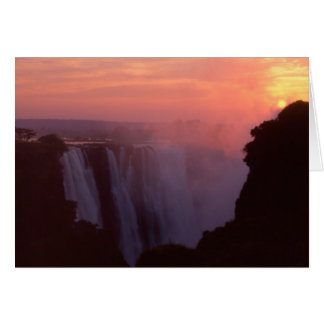 Zimbabwe, Victoria Falls National Park. Misty Card
