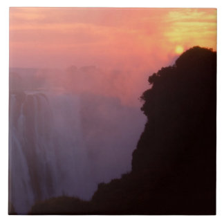 Zimbabwe, Victoria Falls National Park. Misty Ceramic Tile