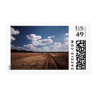 Zimbabwe, View of road near Linkwasha Airstrip 2 Stamps