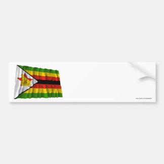 Zimbabwe Waving Flag Bumper Sticker