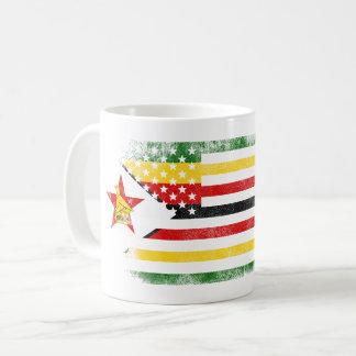 Zimbabwean American Flag   Zimbabwe and USA Design Coffee Mug
