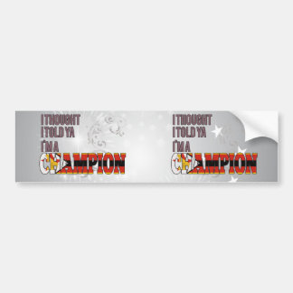 Zimbabwean and a Champion Bumper Sticker