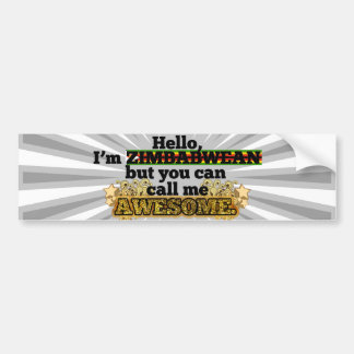 Zimbabwean, but call me Awesome Bumper Sticker