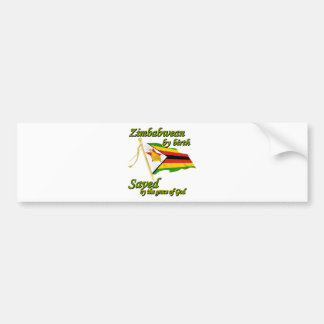 Zimbabwean by birth saved by the grace of God Bumper Sticker