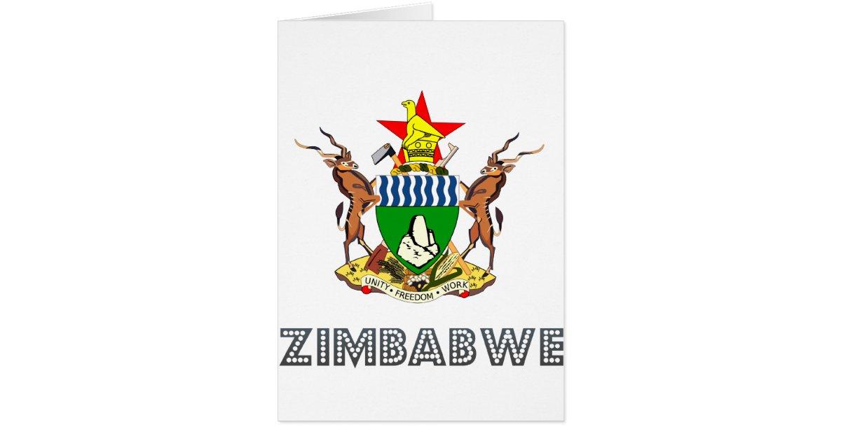 zimbabwean emblem card  zazzle