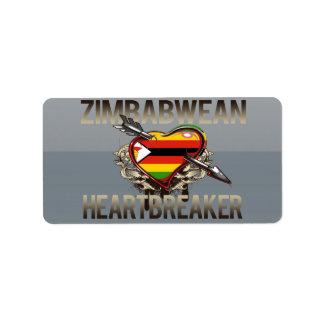 Zimbabwean Heartbreaker Address Label