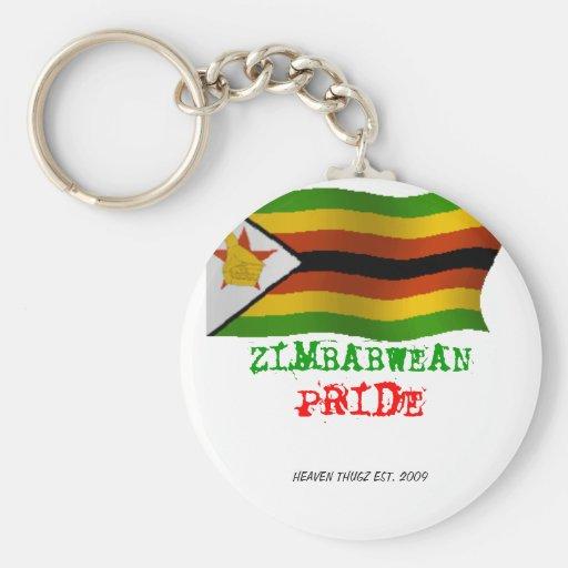 ZIMBABWEAN, PRIDE KEYCHAIN