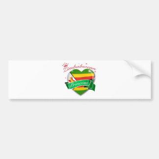 Zimbabwean Princess Bumper Sticker