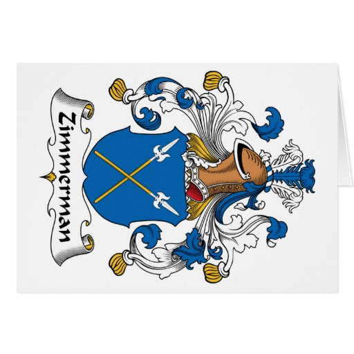Zimmerman Family Crest Greeting Card