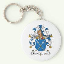 Zimmerman Family Crest Keychain