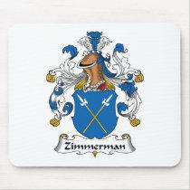 Zimmerman Family Crest Mousepad