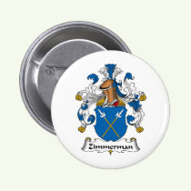 Zimmerman Family Crest Button