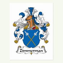 Zimmerman Family Crest Postcard