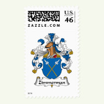 Zimmerman Family Crest Stamps