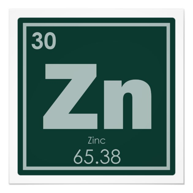 Zn Element Symbol Clipart Library