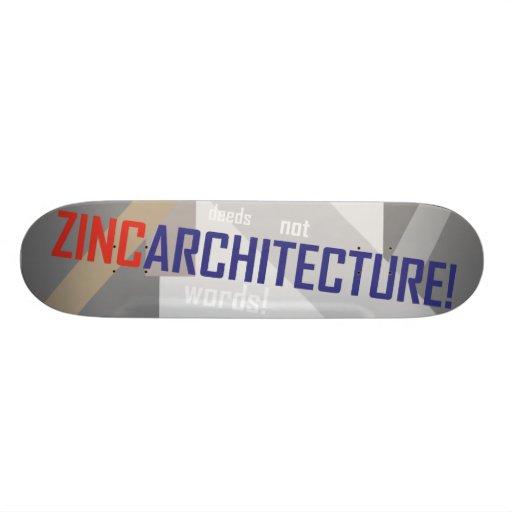 Zinc Deck Skate Board Decks