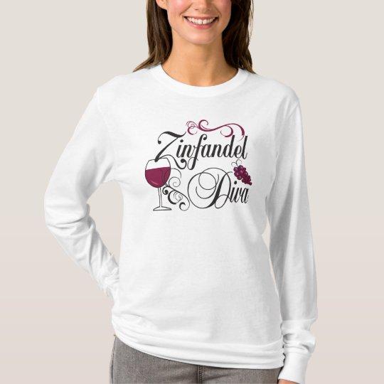 Zinfandel Wine Diva T-Shirt
