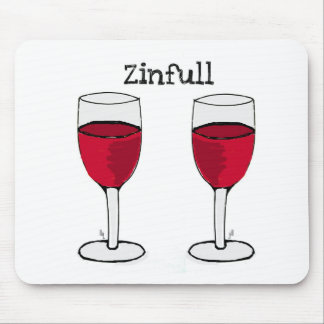 ZINFULL RED WINE PAIR PRINT by jill Mouse Pad