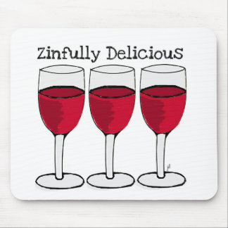ZINFULLY DELICIOUS RED WINE PRINT BY JILL MOUSE PAD
