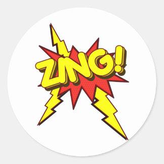 Zing, Zap, Pow!!! Classic Round Sticker
