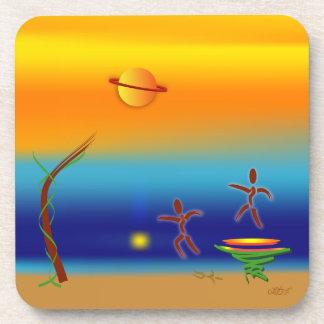 Zinglees ~ Landing Drink Coaster