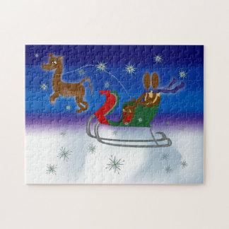 Zinglee's ~ Sleigh Ride Jigsaw Puzzle