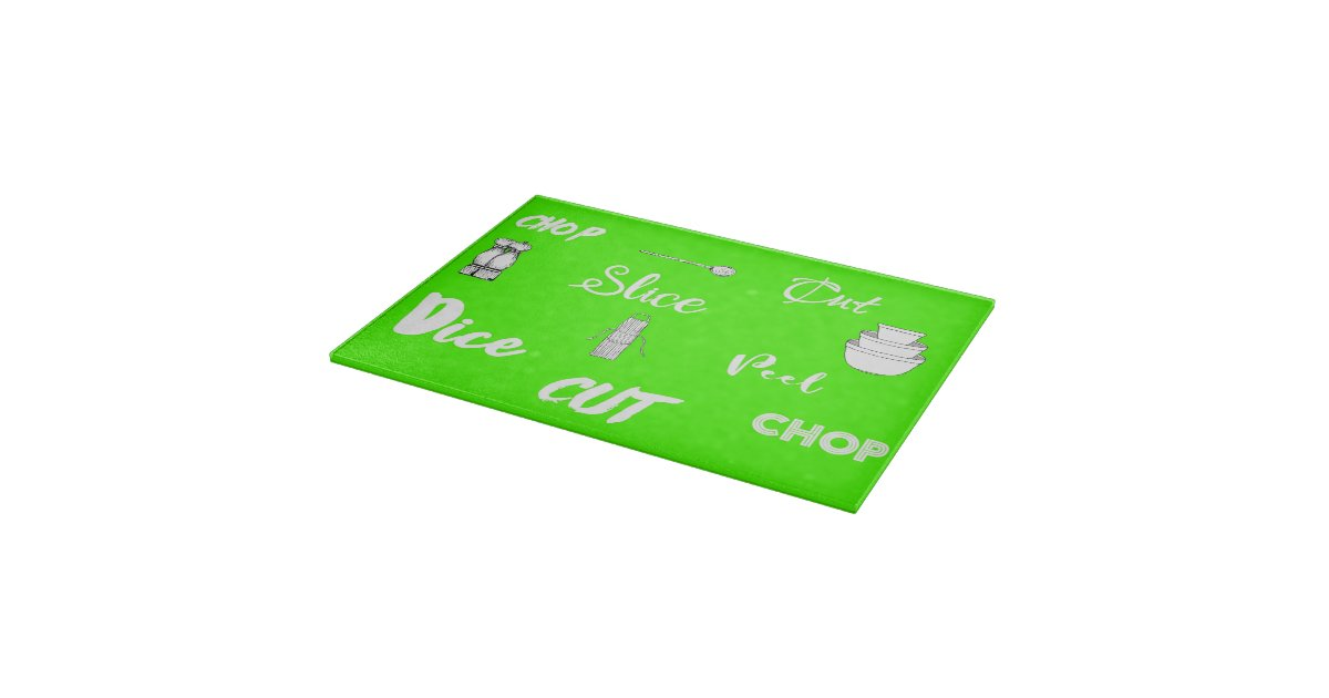 Zingy lime green kitchen chop slice dice cutting board for Lime green kitchenware
