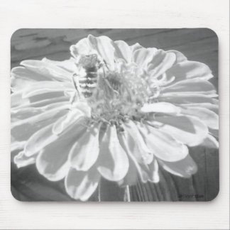 Zinnia and Bee Mousepad Mouse Pad