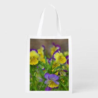 Zinnia and Viola Market Bag