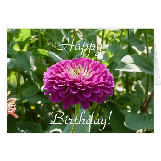 Zinnia Birthday Card