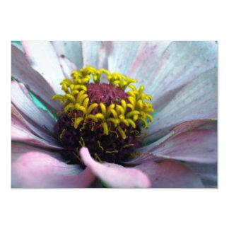 Zinnia Bloom Inside Pastel Pink 5x7 Paper Invitation Card