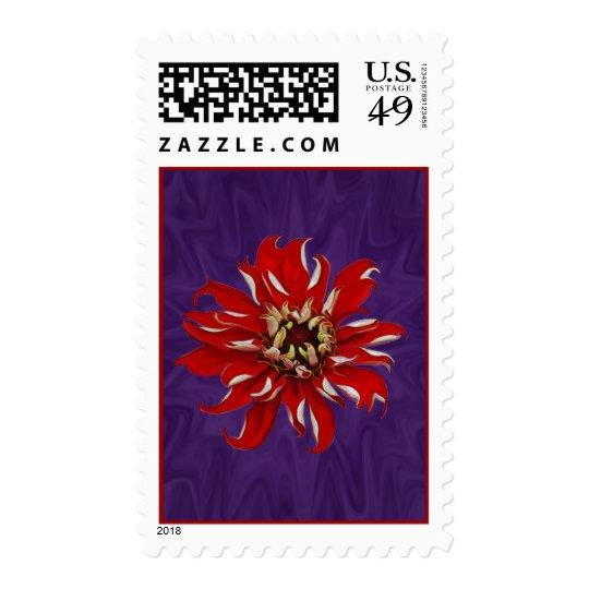 Zinnia Bloom Postage