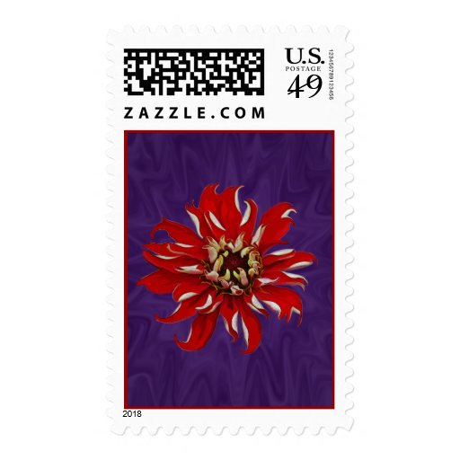 Zinnia Bloom Postage Stamps
