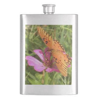 Zinnia & Butterfly Classic Flask