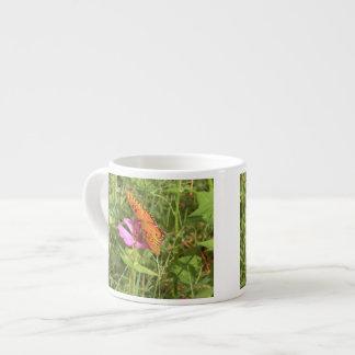 Zinnia & Butterfly Espresso Mug