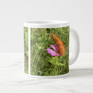 Zinnia & Butterfly Jumbo Mug
