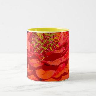 zinnia closeup mug