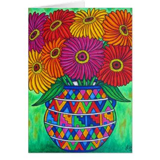Zinnia Fiesta Greeting / Note Card