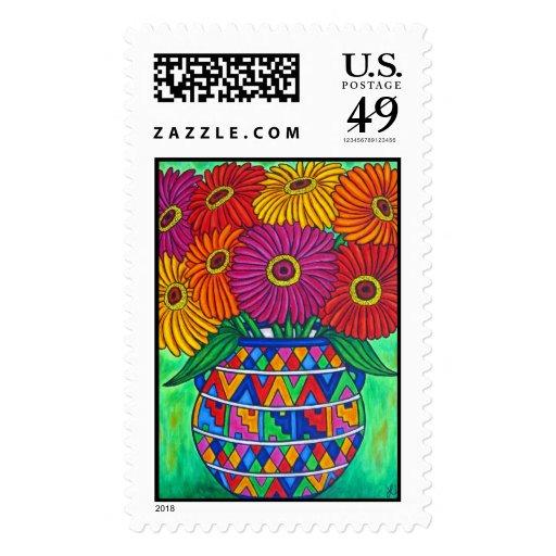 Zinnia Fiesta Stamp