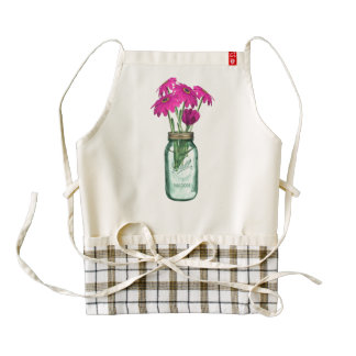 Zinnia fleurs zazzle HEART apron