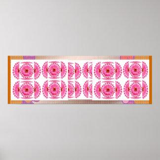 ZINNIA Flower Collage -  Sensual Romance Poster