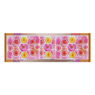 ZINNIA Flower Collage -  Sensual Romance Print