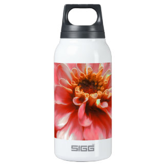 Zinnia Flower Painting Insulated Water Bottle