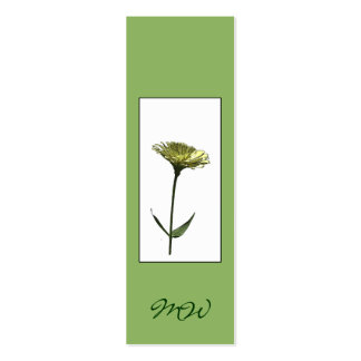 Zinnia Flower Photo-sketch Bookmark Double-Sided Mini Business Cards (Pack Of 20)