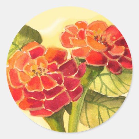 Zinnia Flowers Sticker