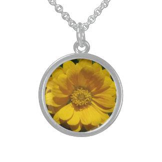 Zinnia Golden Sunlit Flower Jewelry