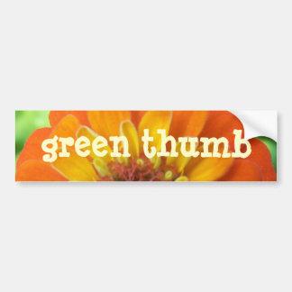 Zinnia, Green-Thumb Car Bumper Sticker