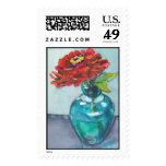 Zinnia Postage Stamp